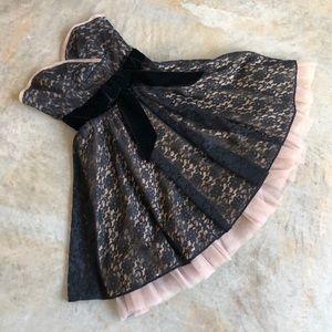 Betsy Johnson Black Lace Evening Dress